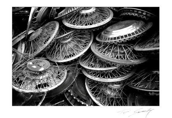 Vintage AntiqueChromeSpoked Wire Wheel by SwankyPhotographic