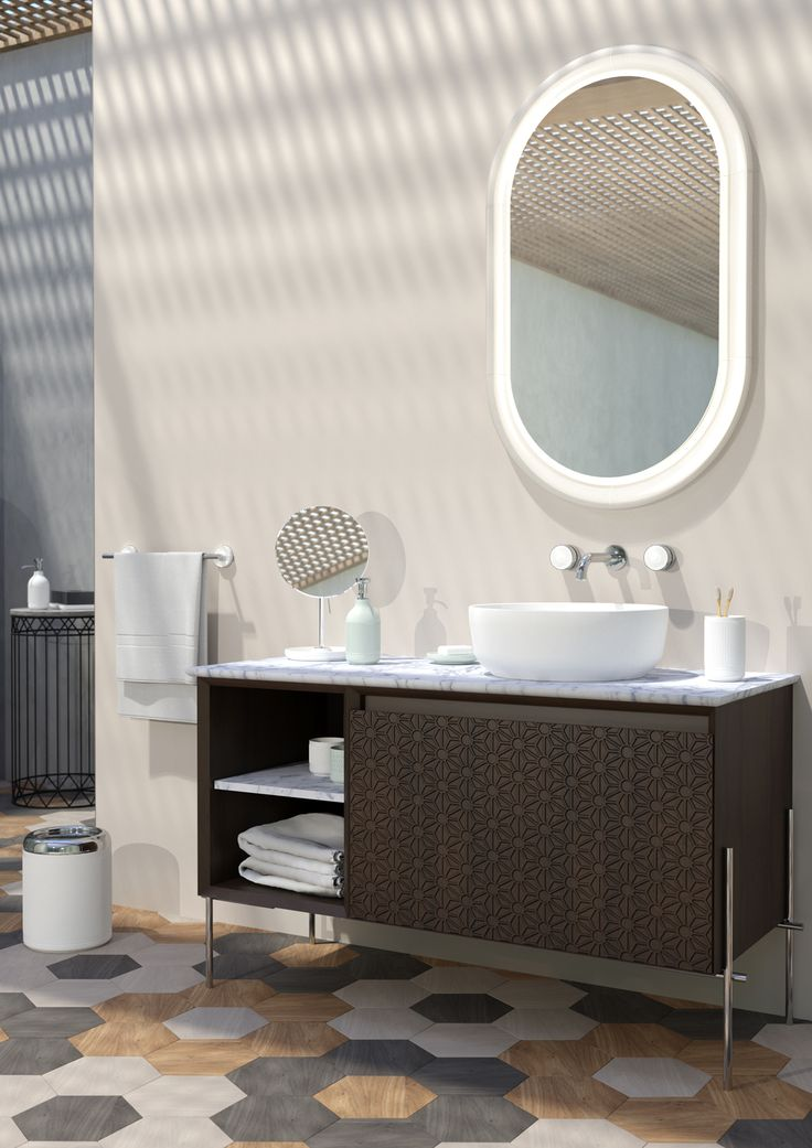 Oval shaped #mirrors. #Equilibrium collection. Design by #edwardvanvlietofficial by #pomdorbathworld and #official_rosenthal .