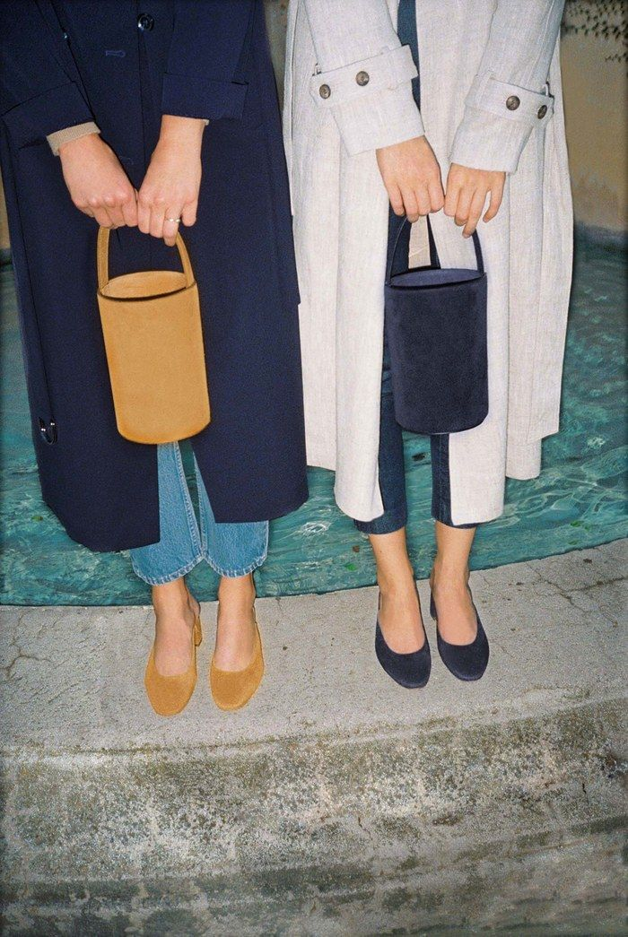the suede bucket bags