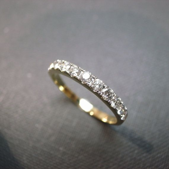 Wedding Anniversary Diamond Band Bridal Ring in by honngaijewelry, $960.00