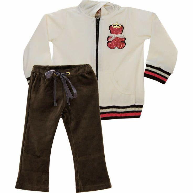 Conjunto Infantil Feminino de Plush Urso Bege - Nini & Bambini :: 764 Kids   Roupa bebê e infantil