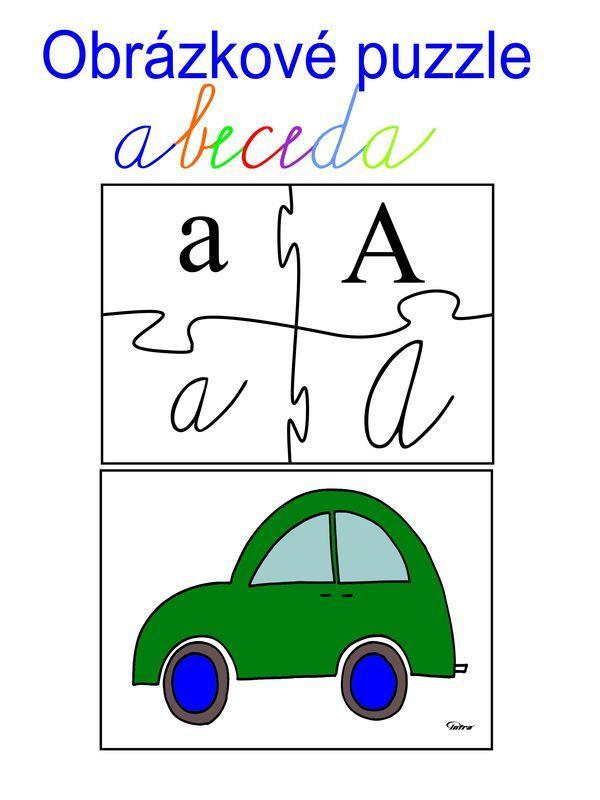 Obrázkové puzzle abeceda