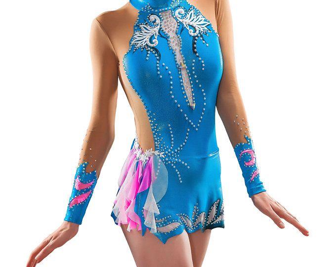 Léotard # 172: Gymnastique rythmique Léotard, Robe de patinage artistique, Costume Gymnastique acrobatique, Combinaison ou robe de danse