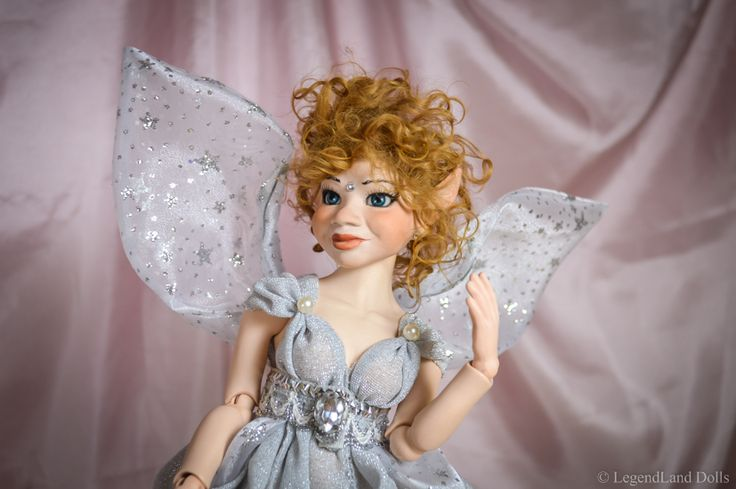 Elf art doll Ball Jointed Doll. She is a hand made porcelain doll. For more BJD dolls visit our page.