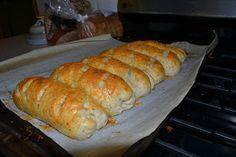 Homemade subway Italian herb and cheese bread.