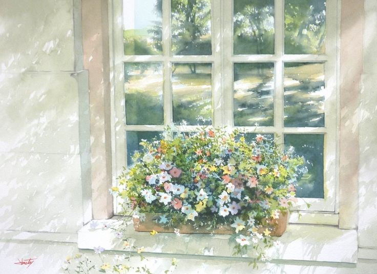 Abe Toshiyuki Watercolor on Waterford, 30x42, 2015