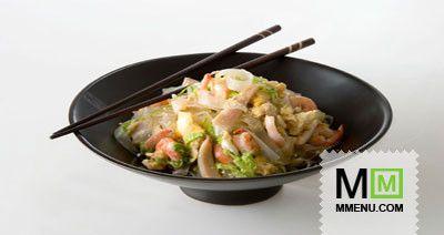 Рисовая лапша скреветками икальмарами