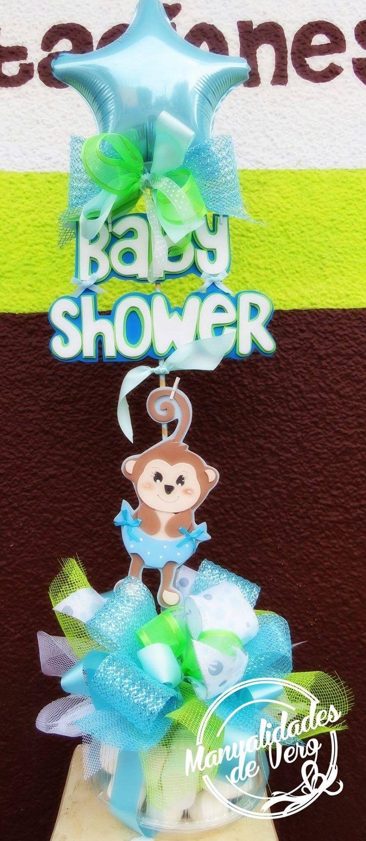Centro de mesa Baby shower...