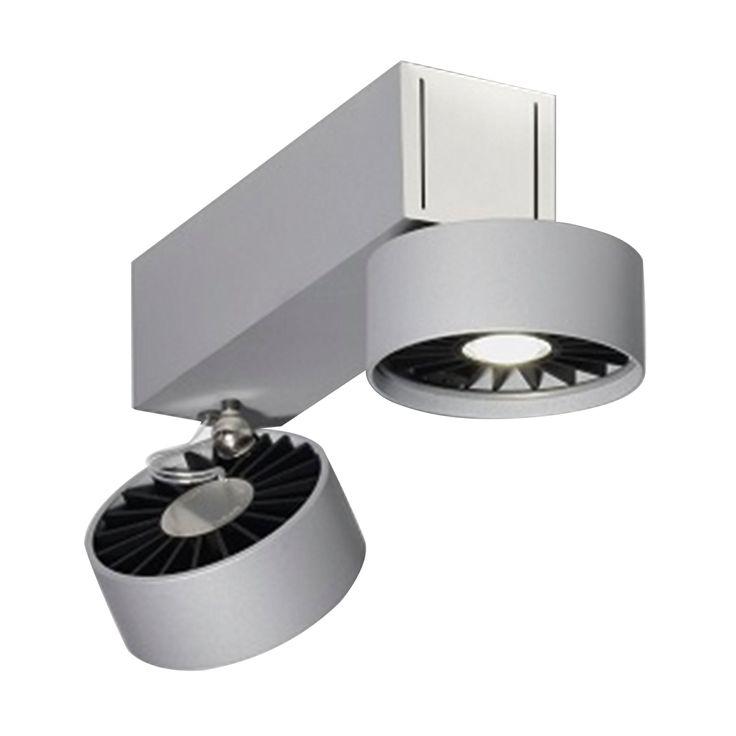 Absolut Basica 2-flammig LED Deckenstrahler silber -  - A055765.002