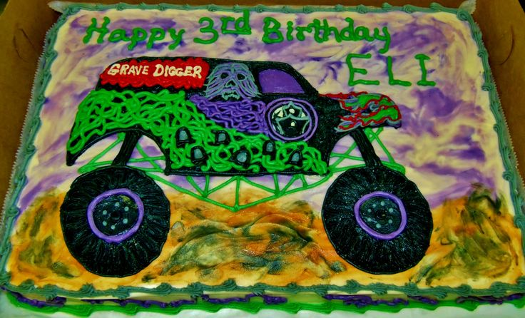 Grave Digger Cake Design For Birthday Celebration In All