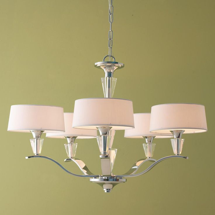 Modern Tiered Crystal And Chrome Shade Chandelier Medium Shades Of Light