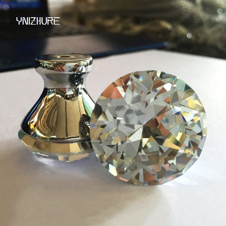 Lovely Amber Crystal Cabinet Knobs