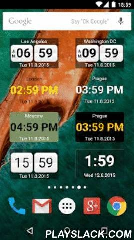 World Clock Widget 2015  Android App - playslack.com ,  Do you want to know time in different country or city? This app is perfect world clock and meeting planner. You can use it as standalone app or as a widget.Features of this application:- Displays time and date in multiple cities and time zones - Digital & Analog Clock - A lot of color and appearance settings- 12/24 clocks- military time- supports GMT and ZULU time zones too- up to date DST (Daylight Saving Time) info- convenient…