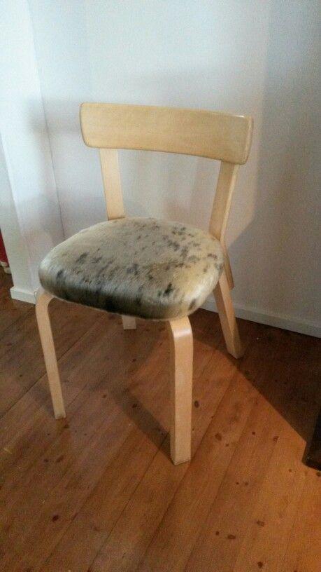 Leather covered artek 69