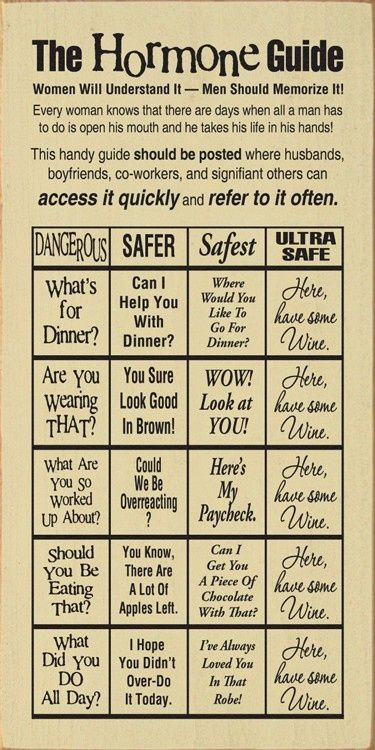 """Guide to PMS. I would prefer mine to say """"here have a beer"""""""