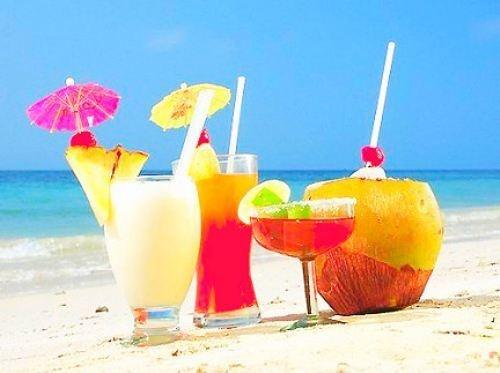 Umbrella Drinks On The Beach