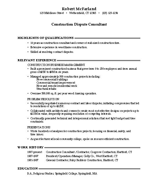 Objective Examples On A Resume - Template