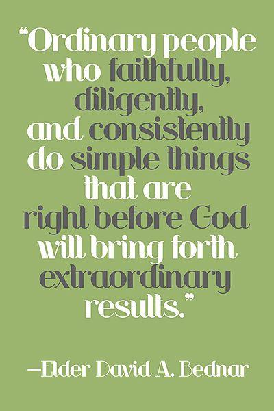 Consistency brings extraordinary results.