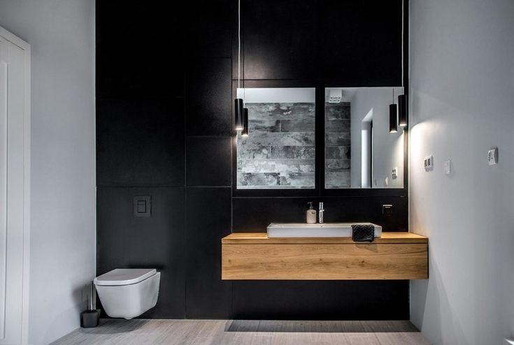 Lavabo con piano in legno