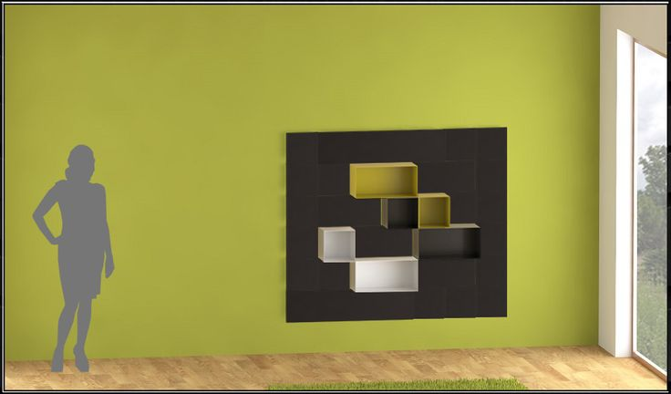 www.yacube.eu . Modular example of modern minimalistic shelves with magnetic modular components .
