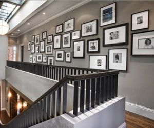 pictures on wall, should you have that long narrow hall....