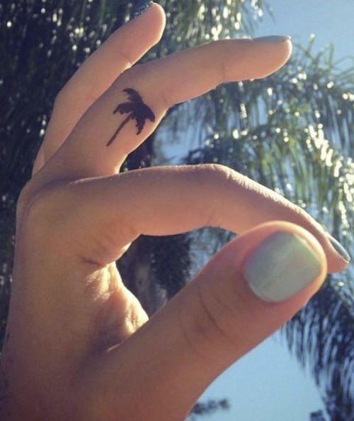 Cute Tiny Finger Tattoo Designs