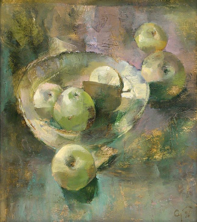 Still Life with apples(price request) by Andrey Aranyshev