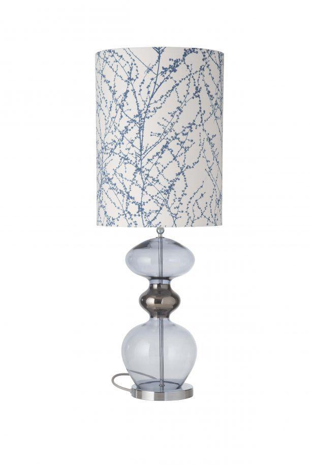 Futura Table Lamp Deep Blue And Shade Lamp Table Lamp Fabric Shades