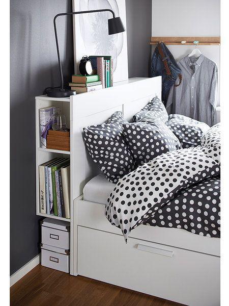 Cabecero Brimnes, con estantes, de Ikea