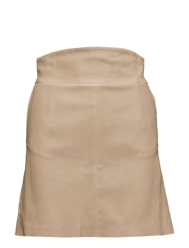 DAY - 2ND Rina Concealed back zip closure Wide waistband Made from leather Chic Elegant and feminine Modern Skirt