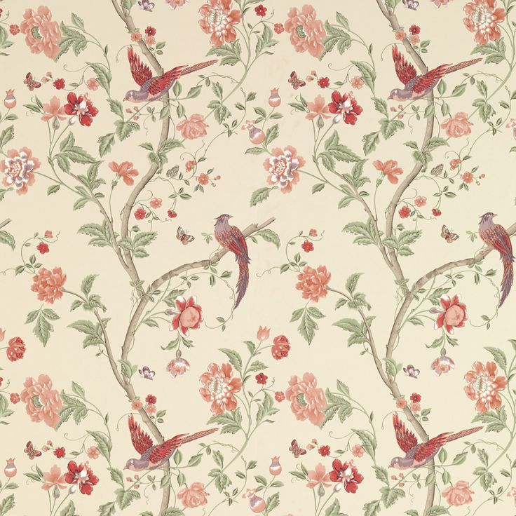 Summer Palace Cranberry Wallpaper at Laura Ashley