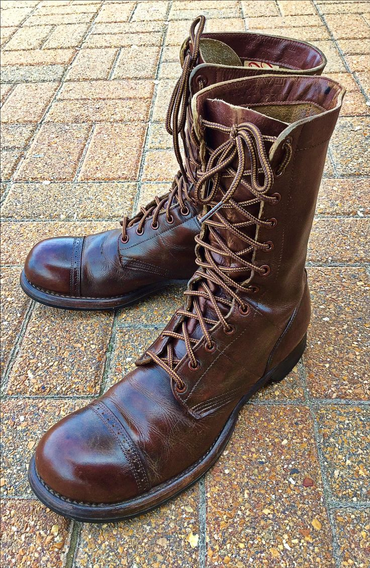 WW2 Corcoran Paratrooper Jump Boots.  (With modern laces.)