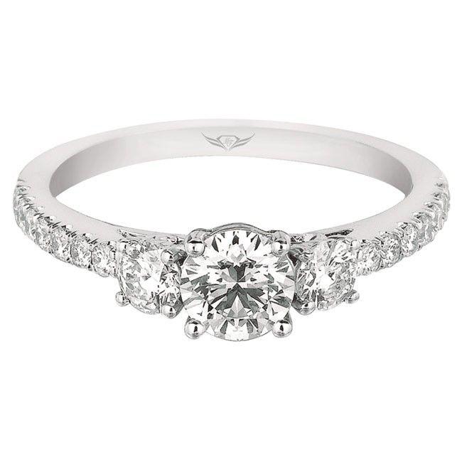 FlyerFit Vintage Three Stone Engagement Ring
