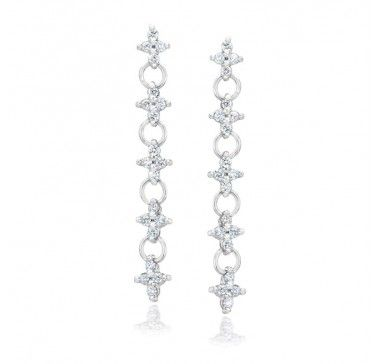Gem Platinum Earrings> http://bit.ly/14SDIHJ
