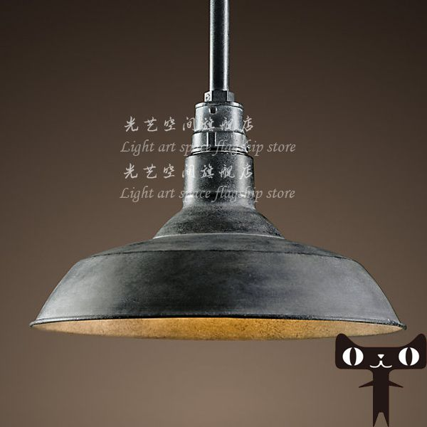 Pendant Light American Old Furniture Nostalgic Vintage Wrought Iron
