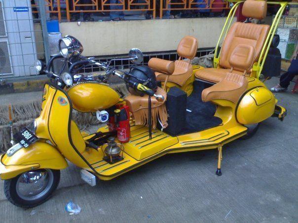 Motoblogn: Vespa & Lambretta Custom Trike Gallery
