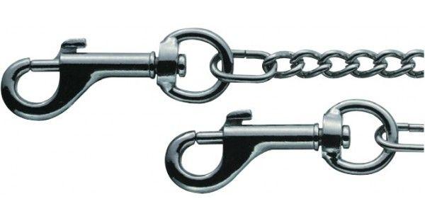 Kraftig kæde til sikring af din schweizerkniv!     Robust kæde med 2 karabinhager (forniklet) til lommeknive. Kæden har en længde på 38 cm.