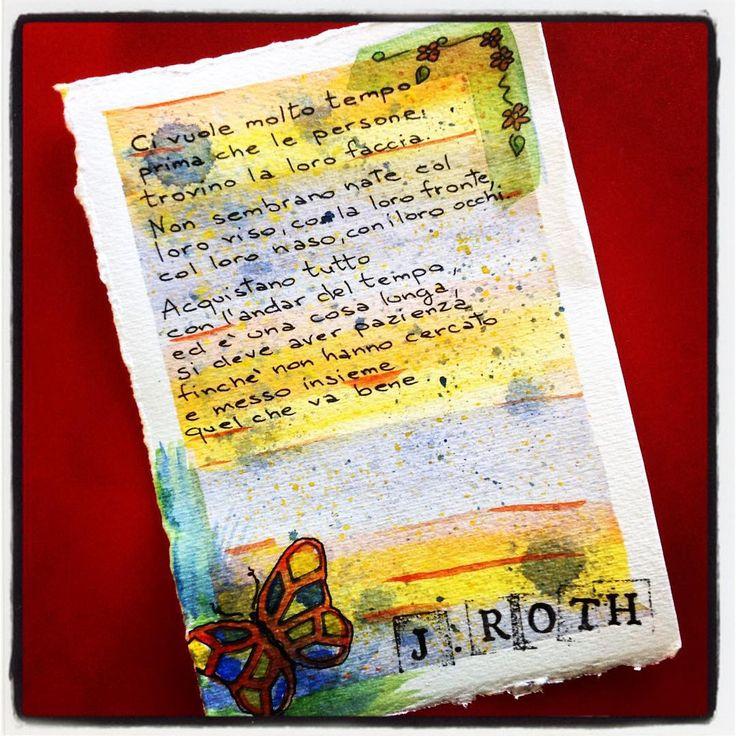 """Frase, volto. Da """"Fuga senza fine"""" di J. Roth."""