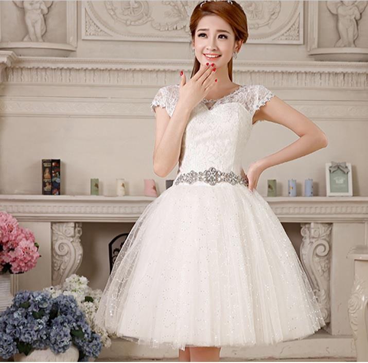 Krótka suknia ślubna weselna cywilny piękna 34-44 (5643926619) - Allegro.pl - Więcej niż aukcje.