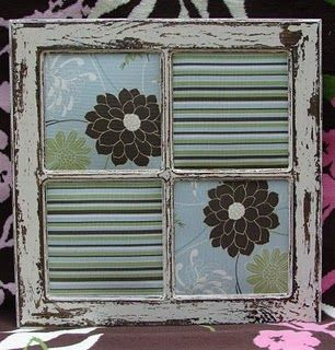 distressed window frame would be cute with scrapbook paper dry erase marker