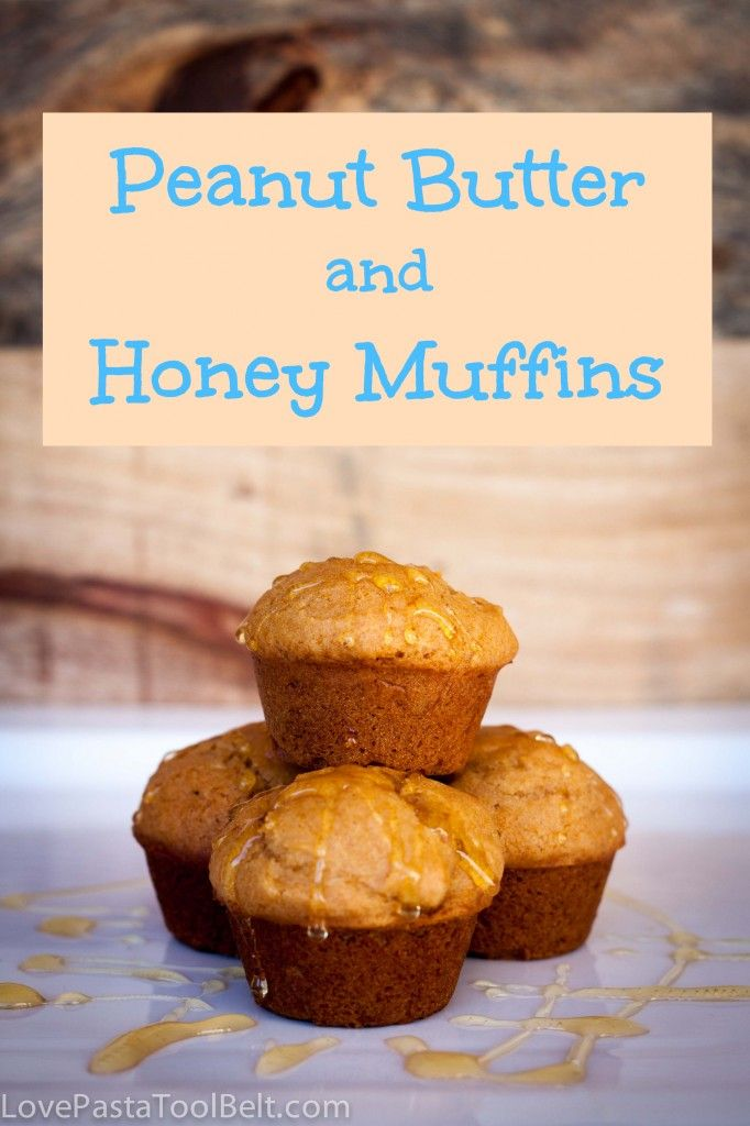 Peanut Butter and Honey Muffins- Love, Pasta and a Tool Belt | breakfast | brunch | snacks | muffin | recipes | food |