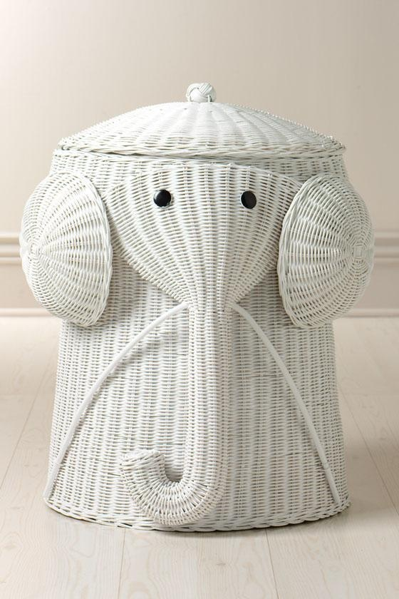 Elephant hamper laundry rooms pinterest - Elephant wicker hamper ...