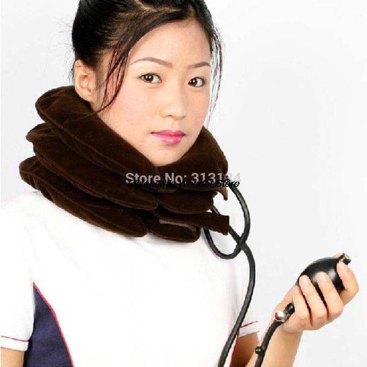 1 pc três camadas pescoço alívio de tração colar Cervical dispositivo de tração dispositivo de massagem travesseiro pescoço alishoppbrasil
