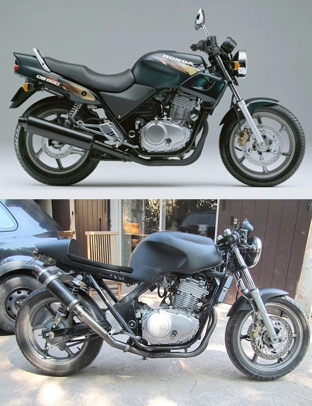 Honda CB500 custom. http://www.vintagemotoparts.fr/