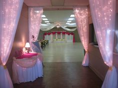 white lights tulle spring school dance decorations - Google Search