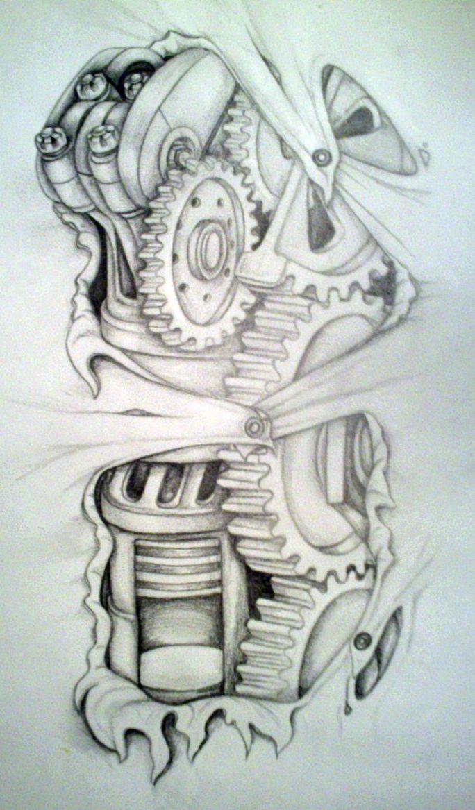 biomechanical tatt idea by MirandaAmber Project Killing