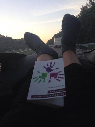 Sur la route, direction l'Italie, avec Nathalie
