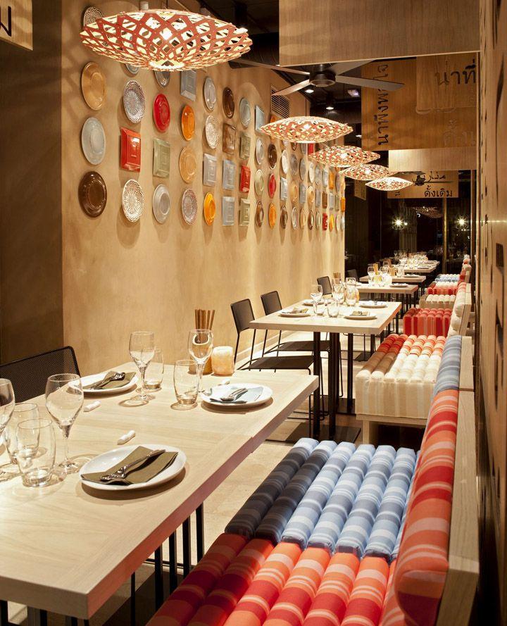 Легкомысленный дизайн ресторана паназиатской кухни