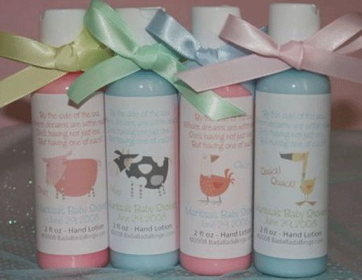 Baby Shower Favors Lotion ~ Set of baby shower favors gift set sampler set hand