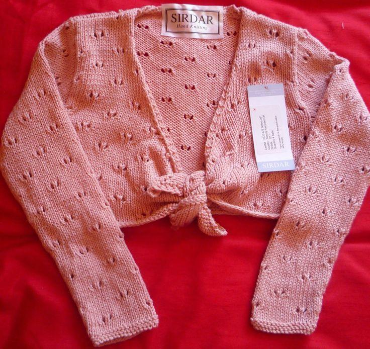 Girls Hand-knitted DK Bolero